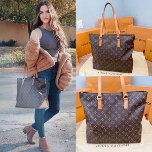 💎CABAS MEZZO💎 Auth Louis Vuitton Shoulder Bag!
